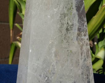 1.8LB Natural Clear Quartz Crystal Obelisk