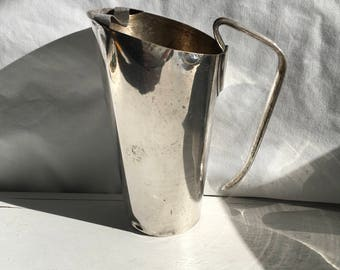 1930s vintage Napier silver plate bar pitcher with minor dents