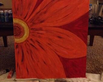 Orange Flower Burst