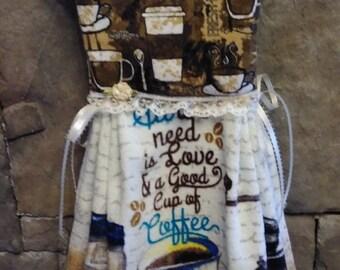 A Good Cup of Coffee Oven Dooor Towel Dress