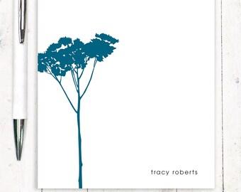 personalized notePAD - TREE - stationery - custom stationary - nature - botanical
