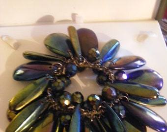 Beautiful Vintage Large Bracelet With Stunning Colours