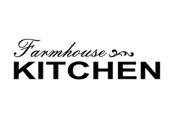 Farmhouse Kitchen - Vinyl Decals - Easier Than Paint or Stencils - Select Color