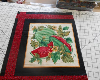 Watermelon quilt panel squares, fabric