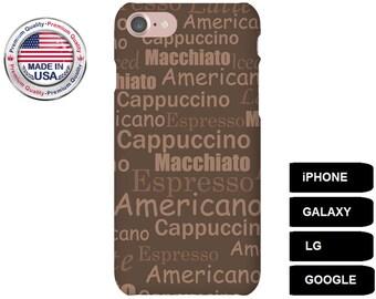 Coffee Phone Case, Phone Case Coffee, Coffee iPhone Case, Coffee Galaxy Case, Coffee Google Pixel Case, iPhone 6 Plus Case, iPhone 5 Case