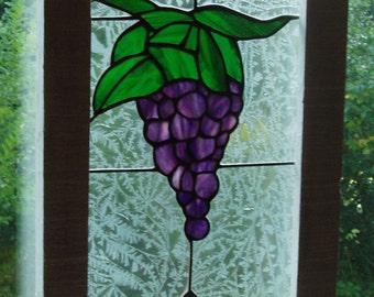 Stained Glass Grapes panel