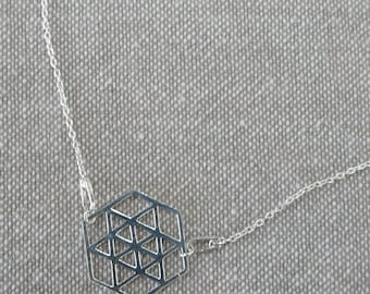 """Hexagon"" fine silver Choker"