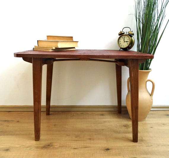 Vintage Folding Coffee Table Lace Top End Side Table Mid