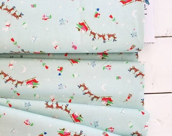 Way Up North - Flight(Mint Background) - Jill Howarth - Riley Blake Designs - Holiday Fabric - Christmas Fabric