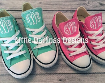 "Toddler and Little Kids Monogrammed ""Chuck Taylor"" Converse Sneakers"