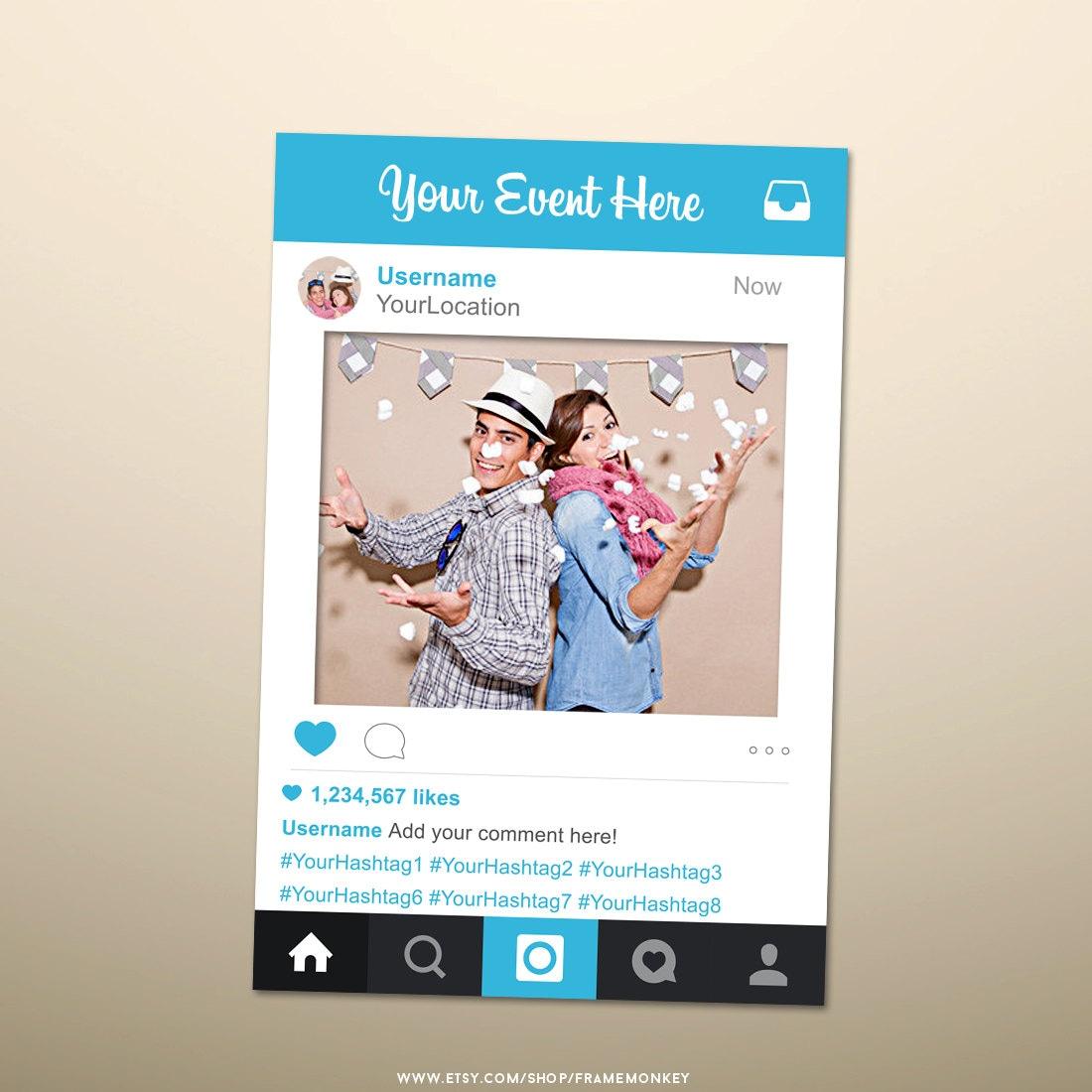 Instagram Style Photo Prop Instagram Sign Social Media Photo