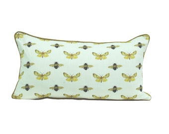 Moth and Bee Scatter Cushion Cover