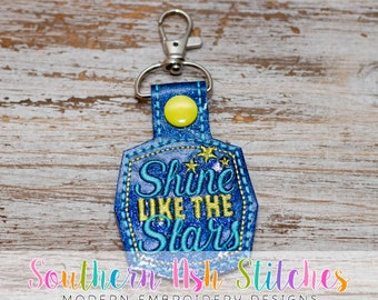 Shine like the Stars SnapTab Embroidery Digital Download