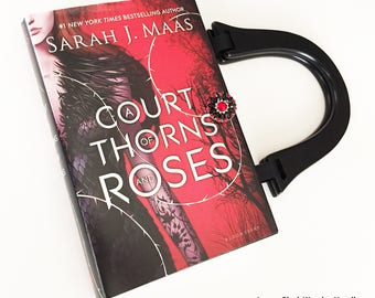 A Court of Thorns and Roses Book Purse - Book Clutch - Book Cover Handbag - Bookish Gift
