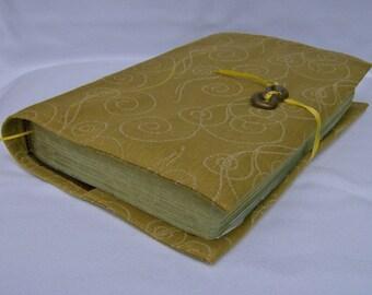 Gold Swirls Fireworks Fabric Book Cover