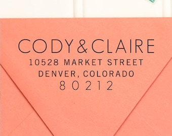 Address Stamp, Return Address Stamp,  Self Inking Return Address Stamp, Wedding Return Address Stamp, RSVP Stamp, Custom Stamp - No. 43
