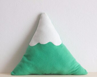 Snowy Mountain Pillow || SMALL