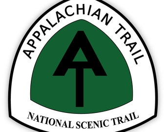 "Appalachian Trail National Scenic Trail sticker decal 4"" x 4"""