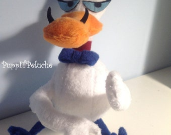 "Plush Duckling - ""Courage the Cowardly dog"" - white duck -"