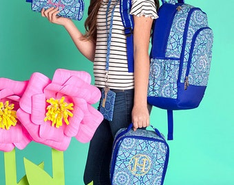 Day Dream Backpack and Lunch box Set, MONOGRAM INCLUDED, Personalized Backpack, Monogram Backpack, Girl Backpack, Back to School