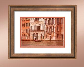 Venice Italy #2. Gondoles on the Grand Canal.