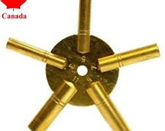 PARUU® clock key brass watch repair 3-5-7-9-11 sizes st671b