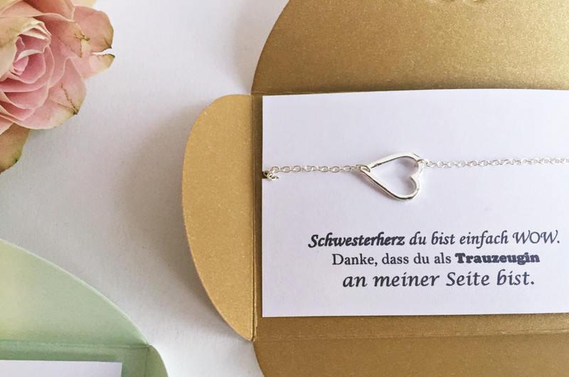 6x schwester geschenk trauzeugin geschenk herz. Black Bedroom Furniture Sets. Home Design Ideas