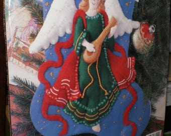 "Bucilla ""Heavenly Minstrel"" Felt Stocking Kit"