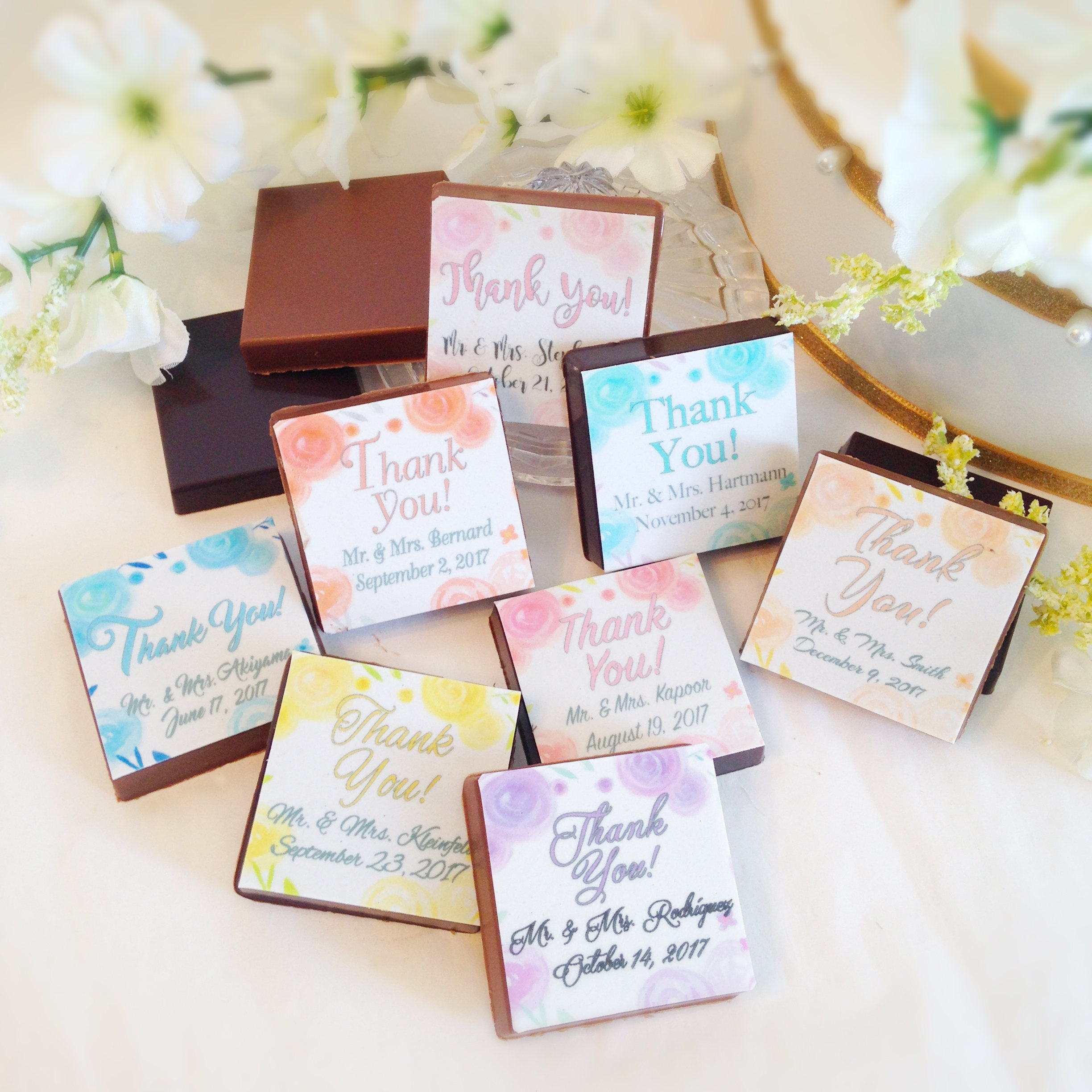 Personalized Chocolate Wedding Favors Chocolate Thank You