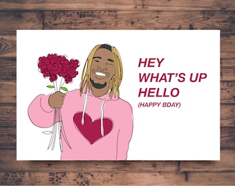 Drake birthday card printable turn your birthday into a printable birthday day card fetty wap trap queen funny birthday card celebrity bookmarktalkfo Gallery