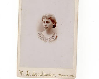 Beautiful woman, antique cabinet card photo