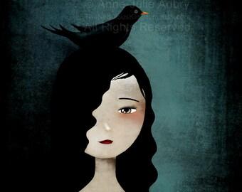 Blackbird - open edition print - Whimsical Art