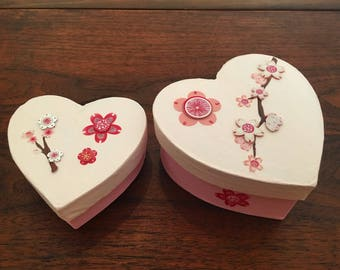 Set of 2 Valentine's Day Heart Boxes