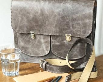 Leather Satchel Backpack Handmade In London