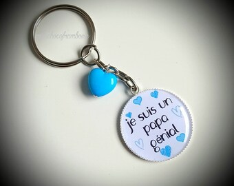 Cabochon 25mm fab dad keychain