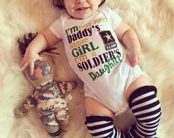 Soldier's daughter, army onesie, army shirt, onesie, daddy's daughter, baby girl, toddler shirt, army proud, military shirt, army onesie