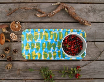 Choppy Cocktail Tray in Yellow & Blue **NEW**