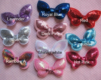 """10 Sequin Butterfly 2.25""""-10 Colors R112"""