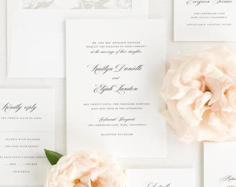 Kaitlyn Wedding Invitations - Sample