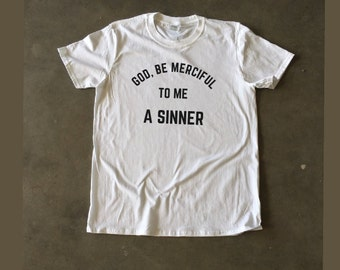 God, Be Merciful Men's Christian T-Shirt Reformed (3 Colors)