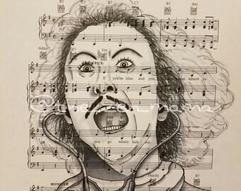 Legends on Music series - Gene Wilder/Young Frankenstein (print)