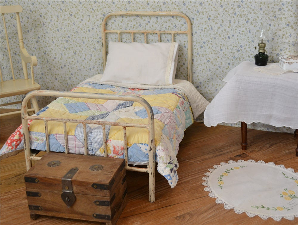 American Girl Bed Doll Bed Victorian Style Antique Iron Metal