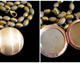 Symphony in Gold Vintage Locket Necklace
