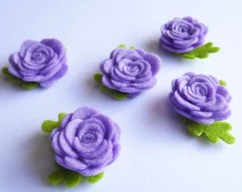 Aplique rosas lilas