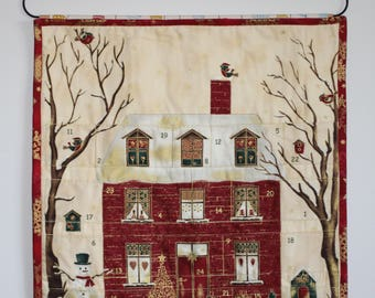 Advent Calendar  Christmas by Stof, Christmas Decoration, Wallhanging, Holiday Decor, Traditional Christmas