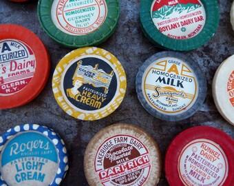 Vintage Milk Cap Magnets