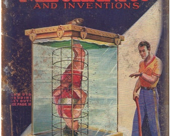 """Modern Mechanics and Inventions Houdini 10"""" X 7"""" Reproduction Metal Sign ZH186"""