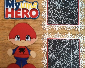 Spiderman inspired my little hero paper piecing scrapbook embellishment set