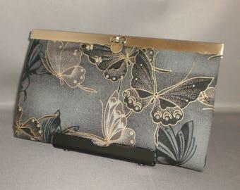 Butterfly Wallet - DIVA Wallet - Clutch Wallet - Checkbook Cover