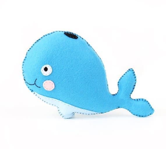 Whale Sewing Pattern, Stuffed Whale Hand Sewing Pattern, Felt Whale ...